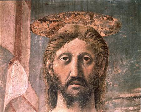 Close-up of Jesus' face from Piero della Francesca's The Resurrection